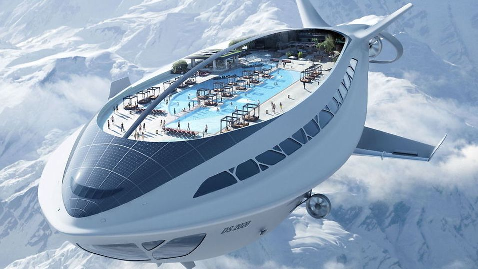 Alle om bord i det flyvende cruiseskipet!