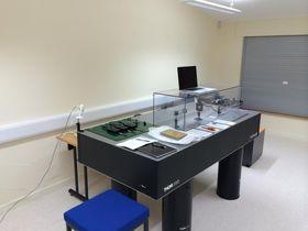 Prototype på Optalysys' optiske datamaskin.