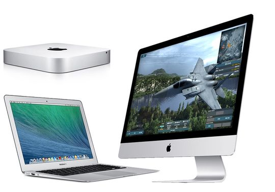 Apples Mac Mini, iMac og MacBook Air.