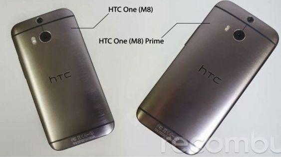 Den til høyre skal være HTC One Max M8, ifølge ryktene.