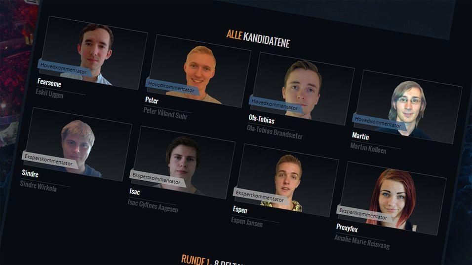 E-SPORT: Lørdag starter jakten på Norges beste spillkommentator
