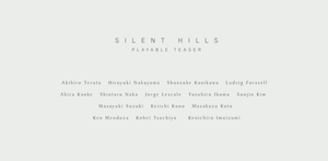 Silent Hills?