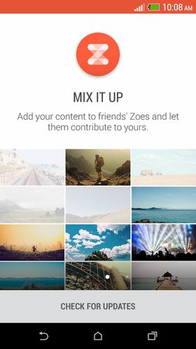 Slik ser Zoe-appen ut. Dagens versjon fungerer kun på HTC-mobiler.
