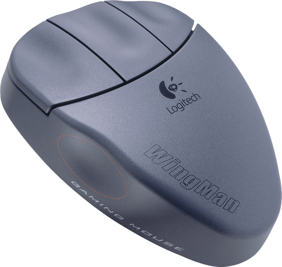 Logitech Wingman Gaming Mouse med sine tre klassiske knapper.