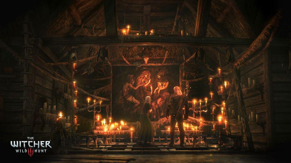 Med det budsjettet som denne dama svir av på levende lys burde hun kunne punge ut en klekkelig belønning for Geralts hjelp. (Bilde: CD Projekt Red).
