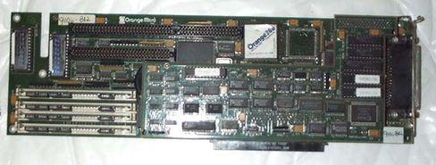 Orange 386-kortet lot deg bruke Windows-programmer på en Macintosh før Bootcamp.
