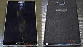 Et tidligere lekket bilde fra GSMArena, som angivelig viser Samsung Galaxy Note 4 fra både fronten og baksiden.