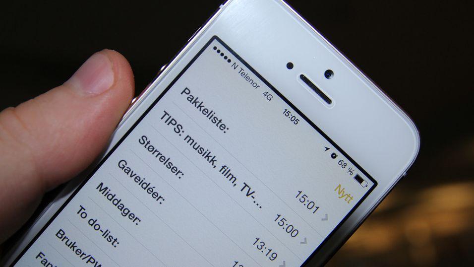 GUIDE: 7 ting du kan bruke notat-appen til