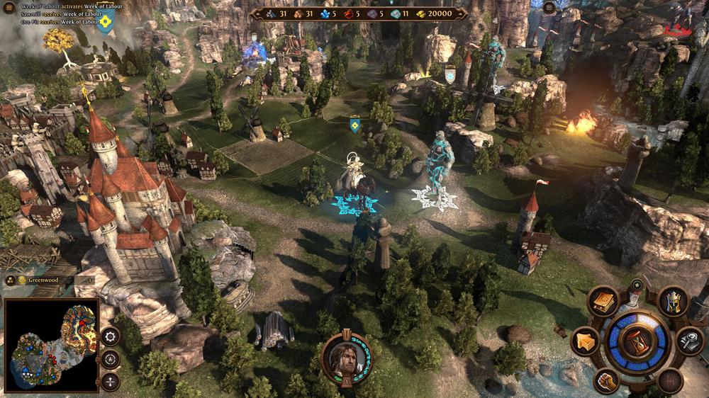 Eventyrkartet ser nydelig ut i Heroes VII. (Skjermbilde: Ubisoft.).