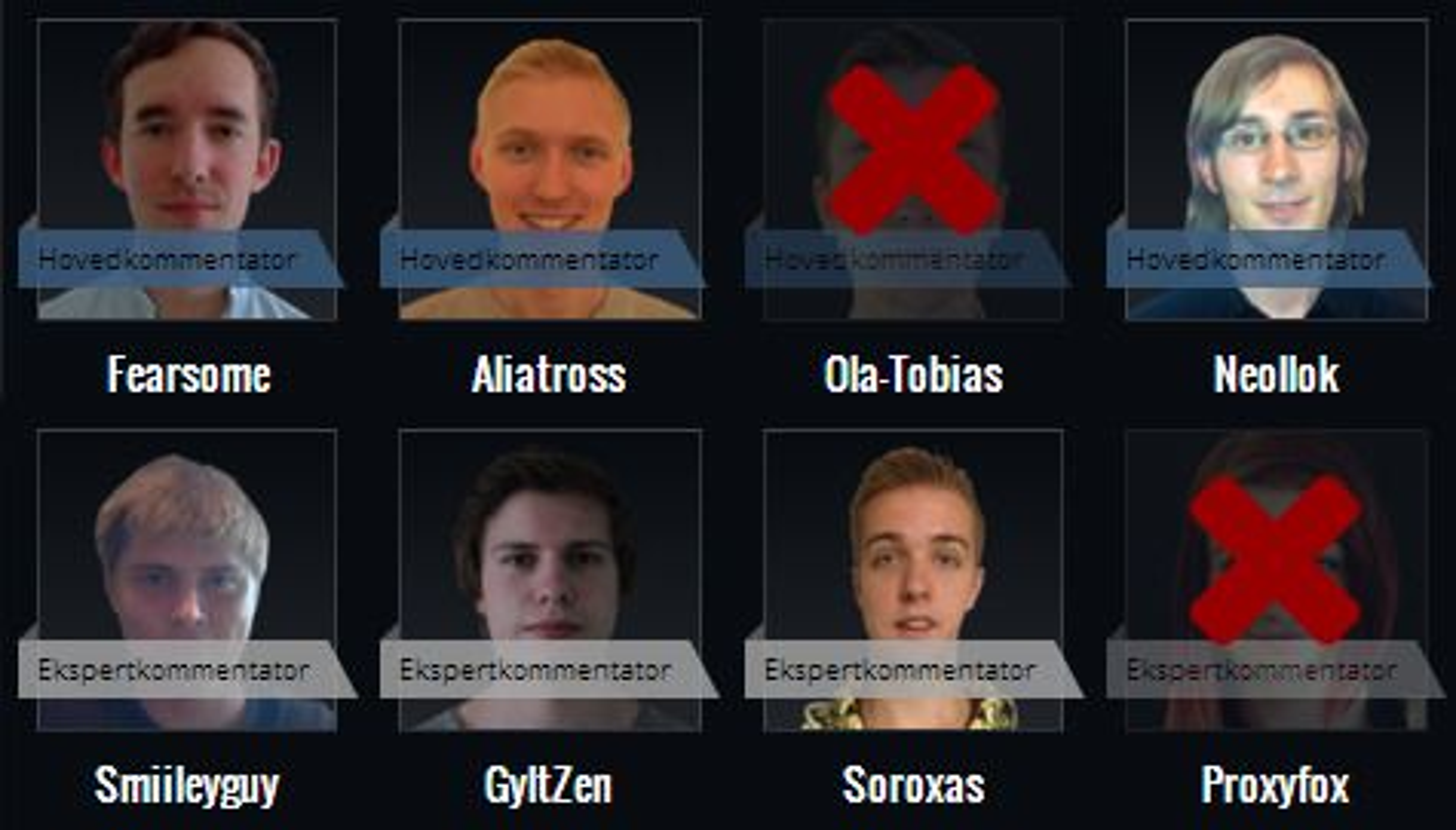 Her ser du hvilke League of Legends-kommentatorer som fortsatt er med.