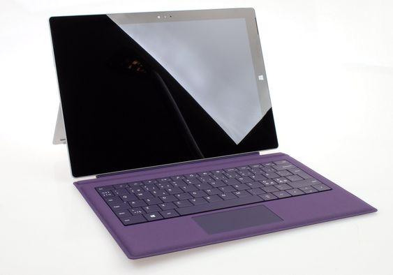 Surface Pro 3 kan du få med forskjellig innmat og forskjellig farge på tastaturdekselet.