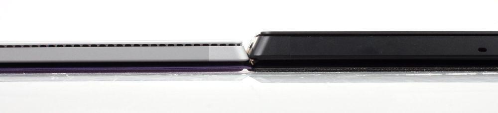 Det gjør den merkbart tynnere enn Surface Pro 2. Det er også hakket lettere.