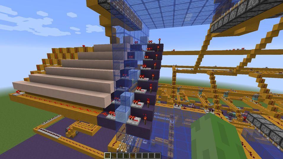Har bygget en fungerende SSD i Minecraft
