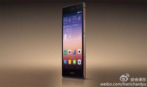 Dette bildet ble lagt ut på Weibo av Huaweis mobilsjef. Det skal vise en Ascend P7 med safirglass over skjermen.