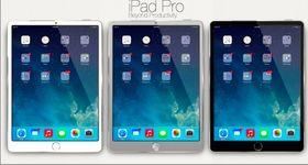 Slik ser et konseptbilde av iPad Pro ut. Om den blir seende ut akkurat slik er intet annet enn vill gjetning.