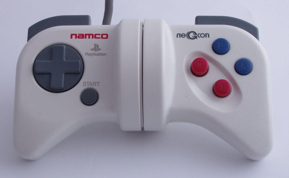Med NegCon-kontrolleren kunne man svinge i bilspill ved å rotere kontrolleren.