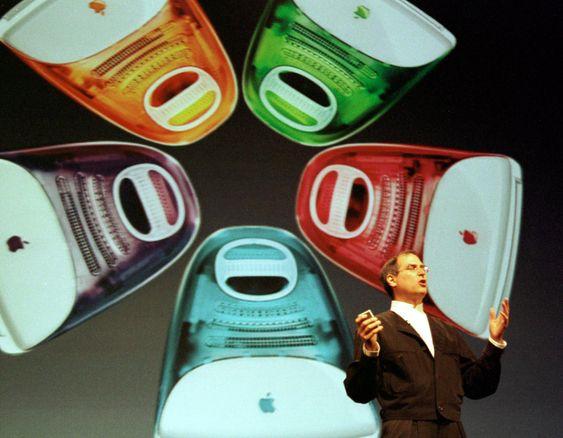 Steve Jobs presenterer iMac G3.