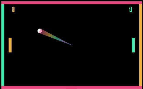 Adriel har laget en Pong-klone hvor man kan skyte motstanderens strek for å gjøre den mindre.