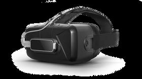 Slik ser det ut når Leap Motion-sensoren festes til Oculus Rift-brillene.