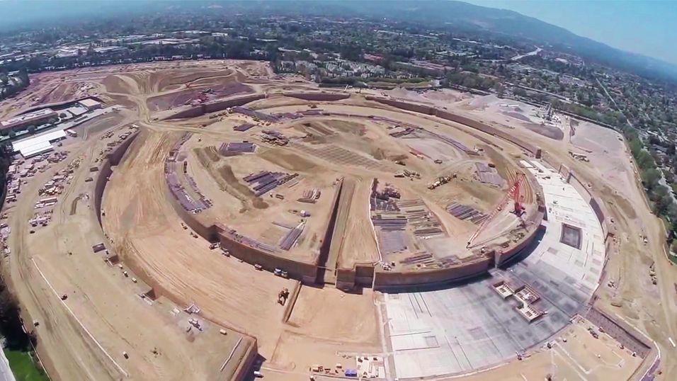 Nå kan du se hvor enormt Apples «romskip» blir