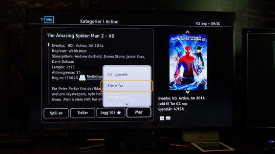 Du får nå mer informasjon under filmen du skal leie. .