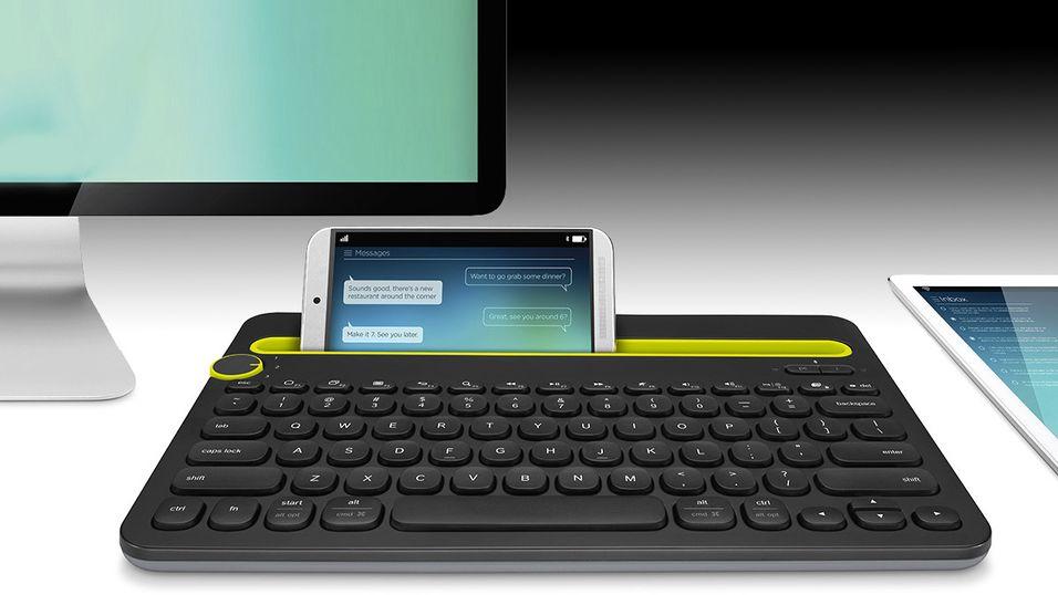 Dette tastaturet kan brukes tre steder samtidig