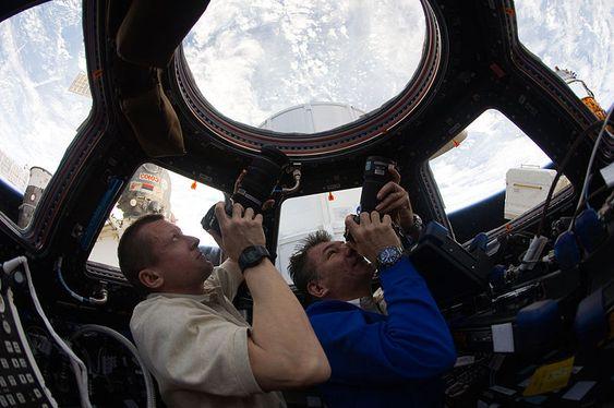 NASA deler veldig mange bilder fra ISS.