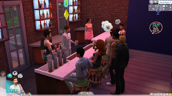 Hvis du trenger å øve deg på å lage drinker er det bare å stikke ned til den lokale baren og ta over bartenderens jobb.