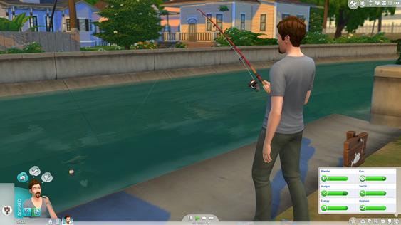 Jeg ville kanskje ikke ha fisket her, men greit nok.