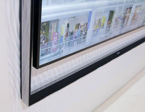 Rammen på Samsungs 8K-TV viderefører elementer fra S9-modellene.