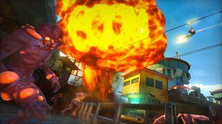 Spillet leker med effekter, og det visuelle er det ingenting å si på. (Bilde: Insomniac Games).