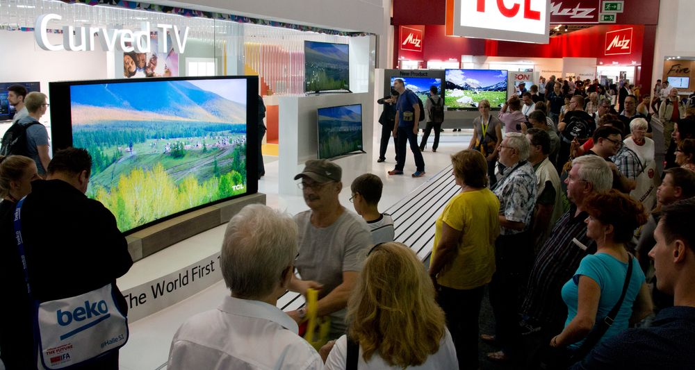 Monster-TV-en fengte publikum under IFA.