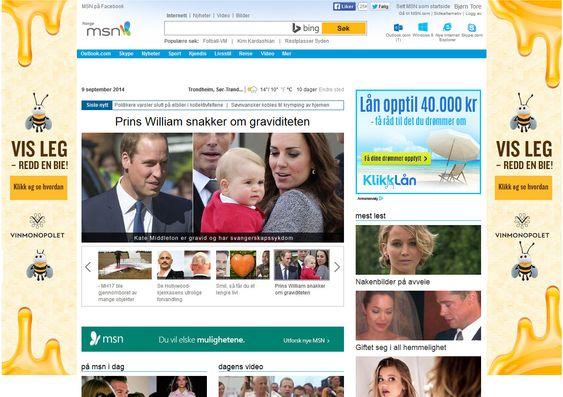 Slik ser gamle MSN-forsiden ut (klikk for større bilde).