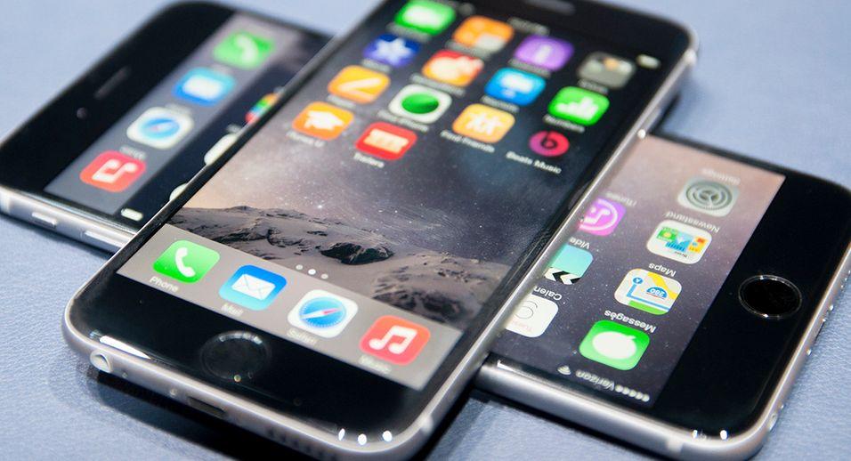 iPhone 6 og 6 Plus fra lanseringen i fjor.