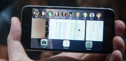 iOS har flere små tilpasninger for større skjermer. De fleste steder handler det om å vise mer informasjon.