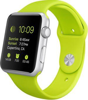 Kanskje vil skjermen på Apple Watch 2 bli den samme som på den safirglassfrie Apple Watch Sport, som reflekterer lite lys.