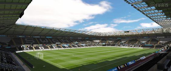 Swansea-fansen får spille på en autentisk Liberty Stadium.