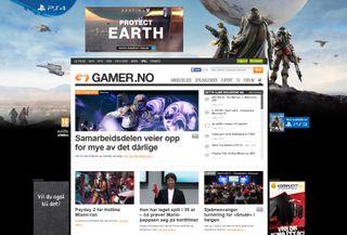 Activision har tapetsert Gamer.no med Destiny-bannere i forbindelse med lansering av spillet sitt.