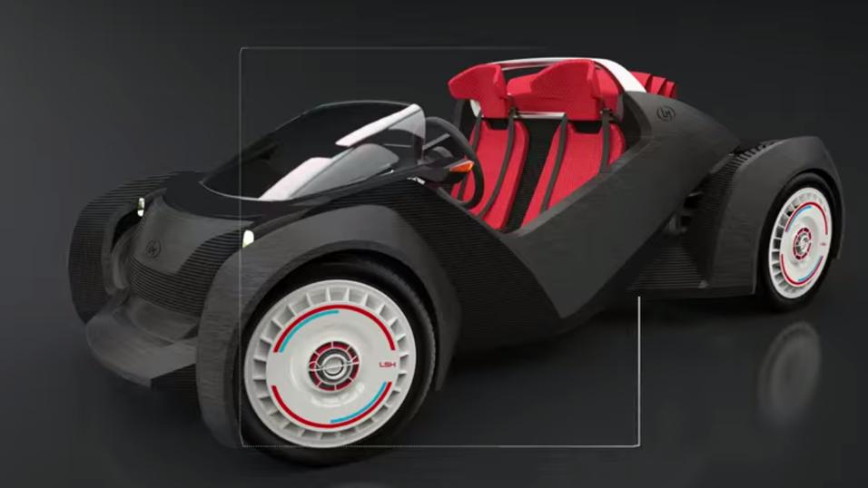 Dette er den første 3D-skrevne bilen