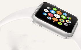 Slik ser Apples klokke ut med startskjermen fra Apple selv. UhrArts etterligning er ganske god.
