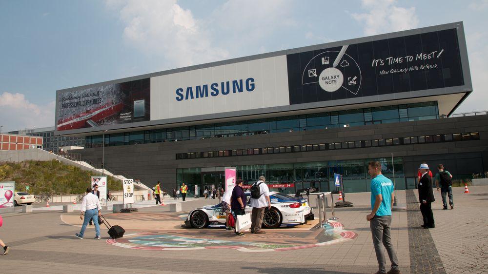 Samsung hadde fått seg en ny hall i år, nybygget og større enn noensinne.