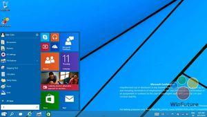 Startmenyen er tilbake i Windows 9, og den er delt i to. Den tradisjonelle menyen ligger på venstre side, mens flisveggen tar plass på den høyre. .