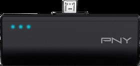 De tre lysene indikerer hvor mye batterikapasitet som er igjen.