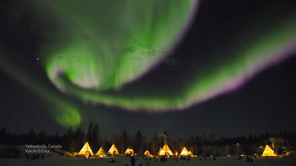 Sjekk den utrolige videoen av det mektige nordlyset