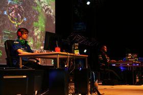 StarCraft-spillerne Snute og TargA deltok på Sørlanet i fjor.
