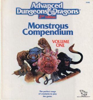 I andreutgaven av Advanced Dungeons & Dragons kom Monster-boka i en ringperm.