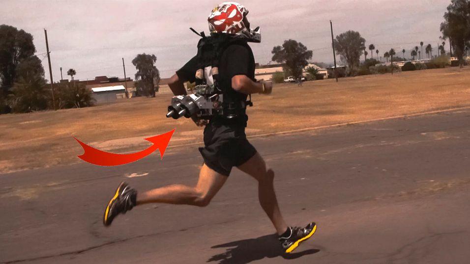 Løp fortere med en jetpack på ryggen