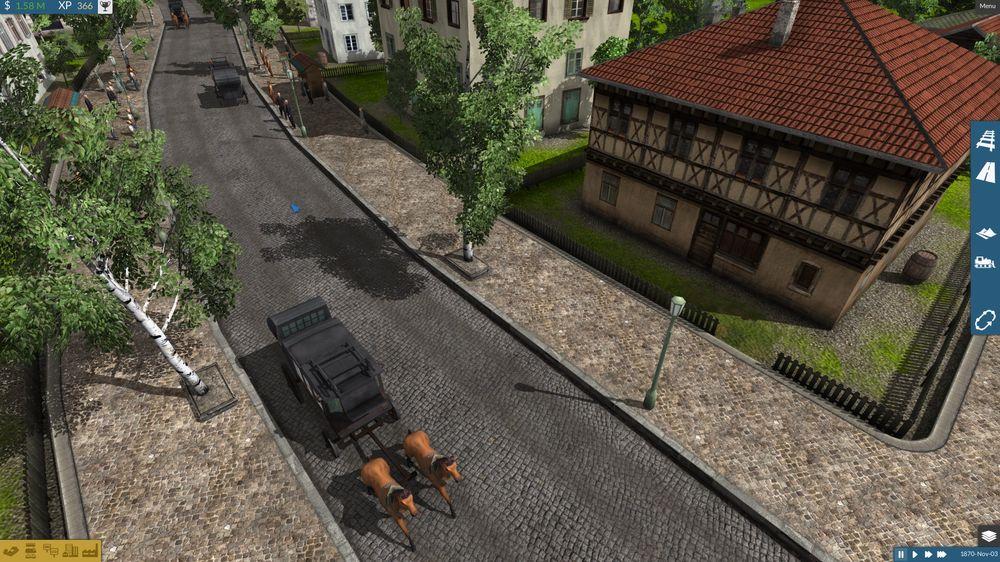 Tidlig i spillet har du ikke biler.