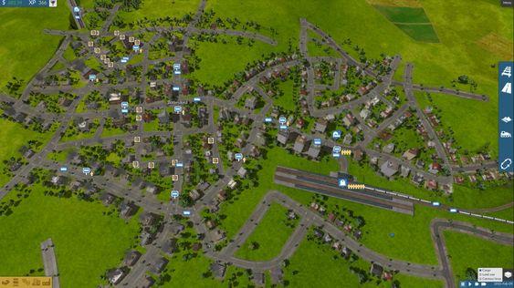 Byene vokser underveis.