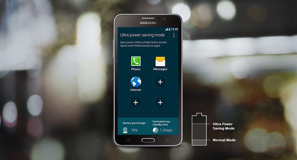 Batterisparemodusen «Ultra Power Saving Mode» følger med telefonen.